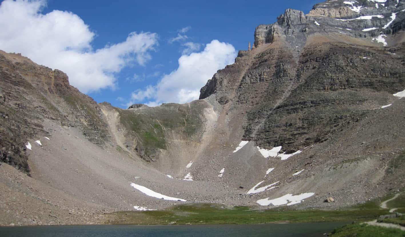sentinel pass lake moraine