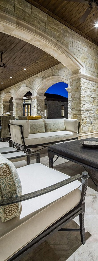 Jauregui Moroccan Outdoor Area | Transitional French