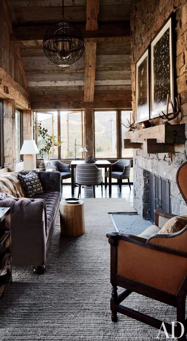 Masculine Rustic Living Room