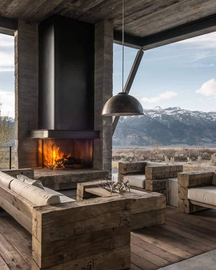 Mountain Style Patio - Outdoor Living Areas