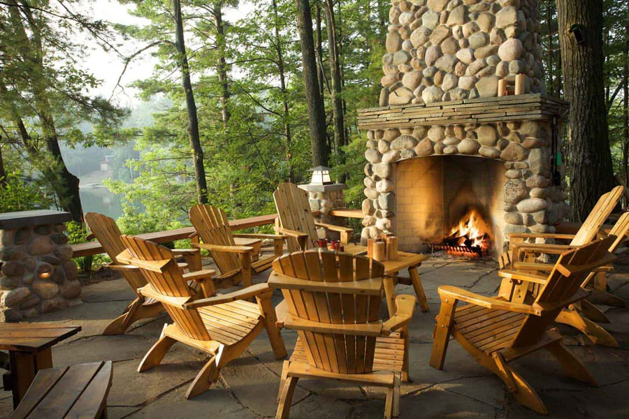 Outdoor Fireplace - Outdoor Living Areas