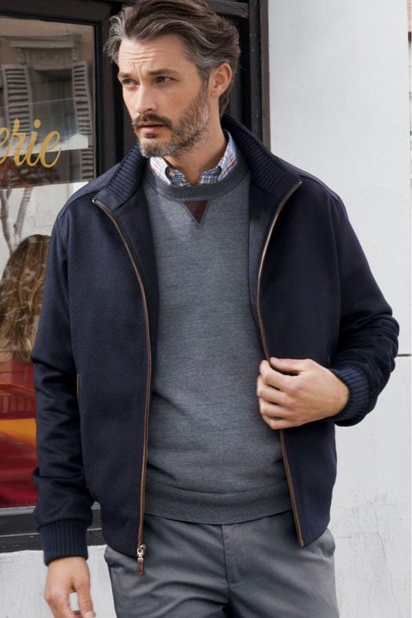 Patric Water Resistant Wool Blend Jacket