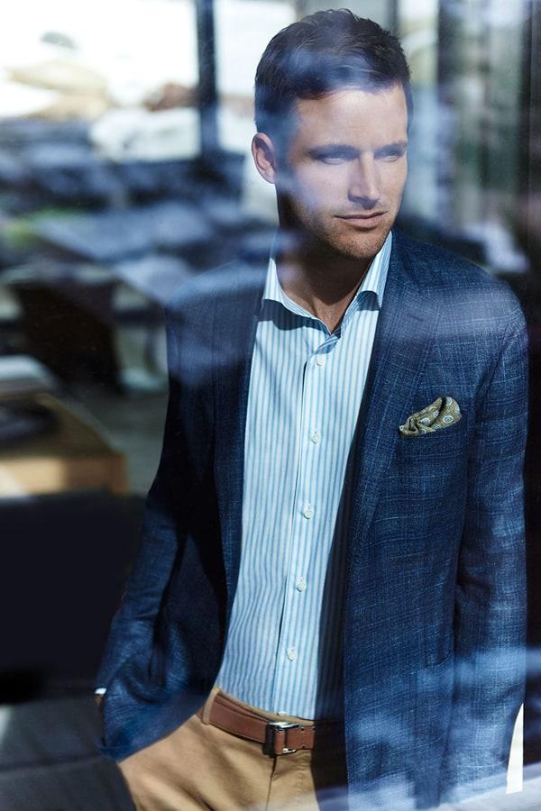 Peter Millar Plaid Striped Shirt, Jacket & Pants