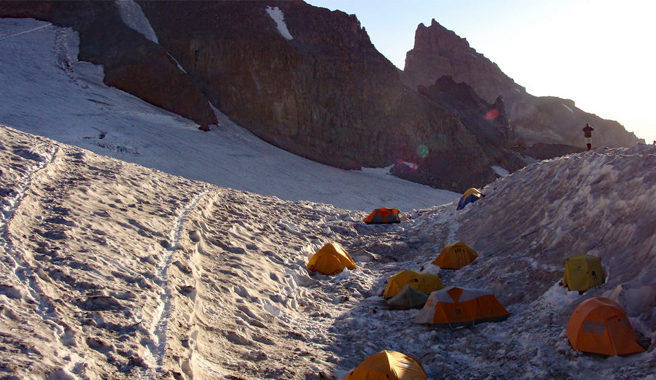Camp Muir Tents