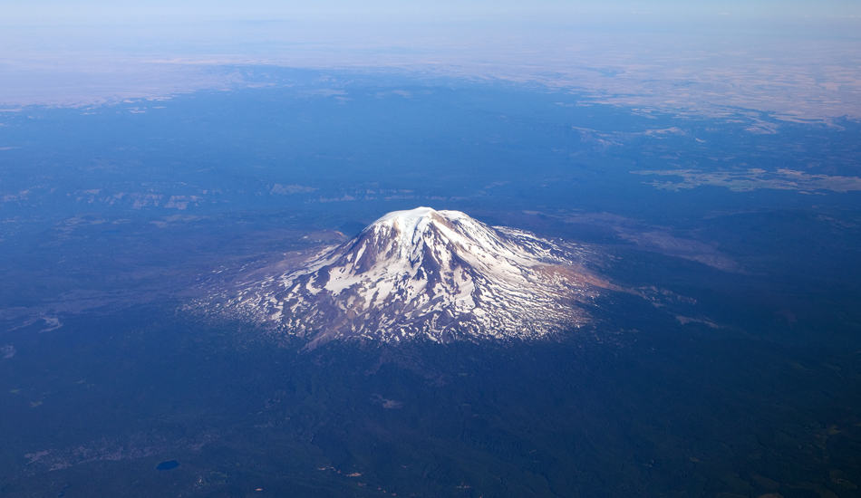 Mount Rainier From Sky