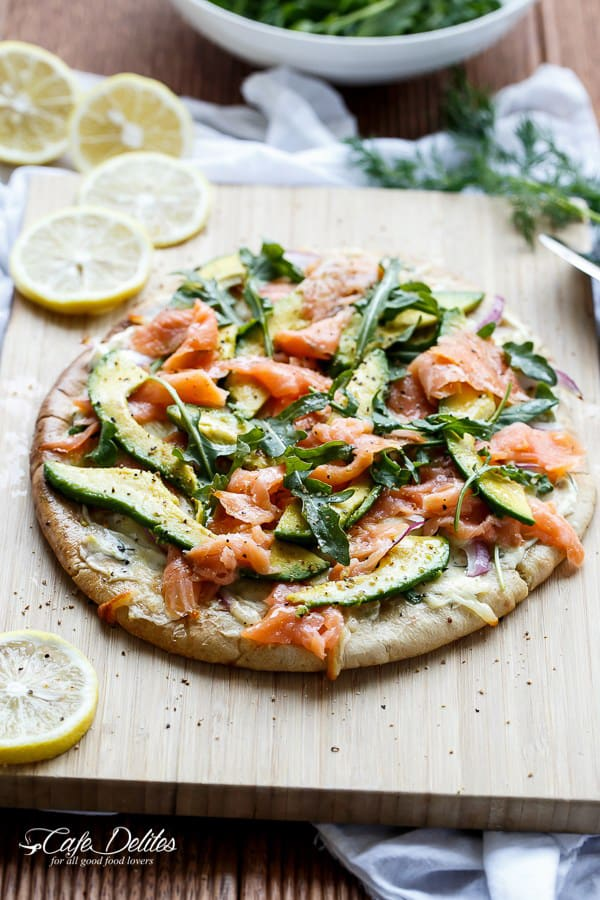 Homemade Pizza - Smoked Salmon & Avocado