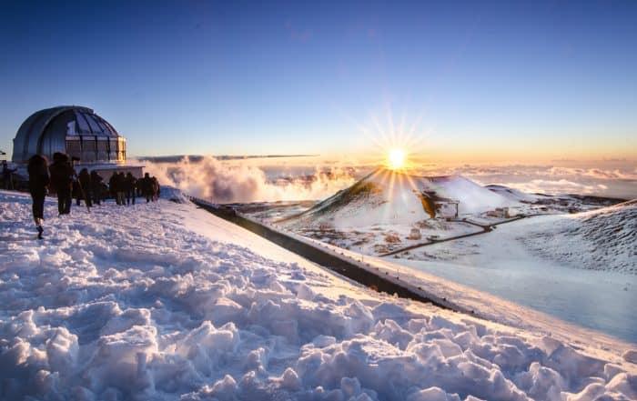 On top of Mauna Kea During Winter, Hawaii