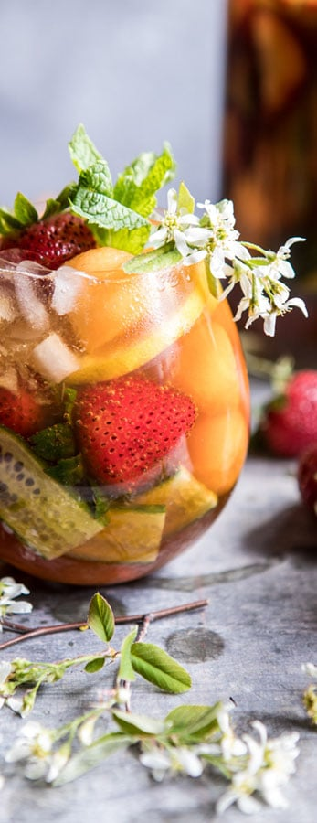 Strawberry Melon Elderflower Pimms